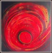 tableau abstrait abstrait rouge noir : CREATION OF LIFE