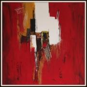 tableau abstrait astrait rouge : VENTURE