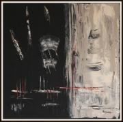 tableau abstrait abstrait noir : ANTHRACITE