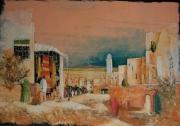 tableau paysages maroc village marche : Maroc 2