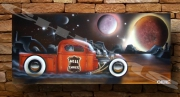tableau autres voiture aerographe hot rod lowrider : hell express