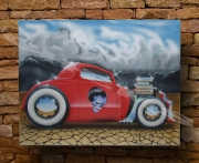 tableau autres voiture aerographe hot rod lowrider : ford 33