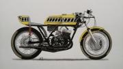 dessin sport : Yamaha TR3 1971