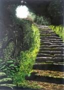 dessin paysages : les marches
