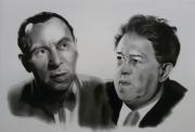 dessin personnages : Louis JOUVET & Michel SIMON