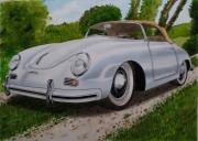dessin paysages : Porsche 356