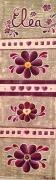 tableau autres fleurs enfant violet beige : tableau enfant