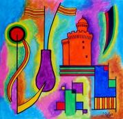 tableau abstrait : Abstrait n° 9