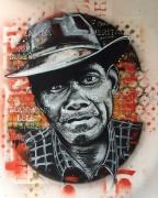 tableau personnages ile de la reunion street art gramoun : Gramoun Lélé