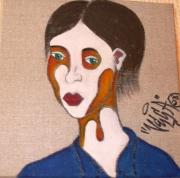 tableau personnages portrait femme couleurs : Femme 1