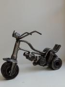 sculpture nature morte moto metal soudure creation : motocyclette