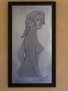 tableau nus nu tableau metal grace feminine elegance : Nu de femme