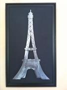 tableau architecture tour eiffel monument tableau metal magique : Tour Eiffel