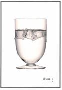 dessin autres verre glacon dessin crayons gris : Verre à eau