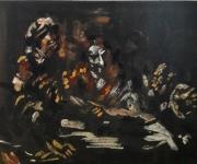 """tableau personnages 12e sam 987 25 : """" Le Caravage"""" étude.."""