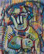 """tableau personnages gladiateur : """" un chien de la rue"""