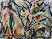 """tableau personnages sam keusseyan de mar : """" femme en chaleur.."""""""