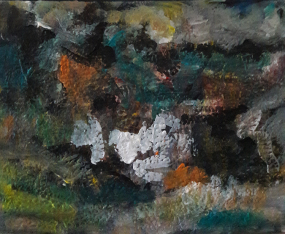 TABLEAU PEINTURE Sam KEUSSEYAN de Marseille Paysages Acrylique  - étude