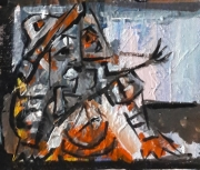 tableau personnages 12e 56 y 4 : étude d'après Picasso ..