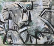 tableau personnages 12e 56 keusseyan 32 : étude d'après Picasso