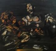 """tableau personnages 12e 45 198025 1980 : """" Le Caravage"""" étude.."""