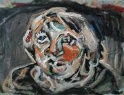 tableau personnages e r fd 0nb : autoportrait Evelyne