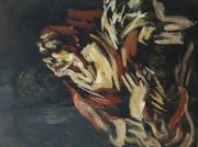 """tableau personnages 12e sam keusseyan lilush : """" Le Caravage"""" étude.."""