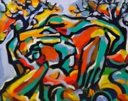 tableau personnages sam keusseyan sam nk by : Cubisme