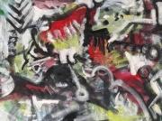 tableau personnages 12e 98 lilushh ht : étude d'après Picasso