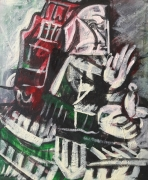 tableau personnages hy u tr fd : étude d'après Picasso ..