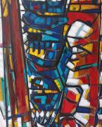 tableau personnages gladiateur : Sur la vitre