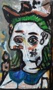 tableau personnages 12e sam ,c 1980 : étude d'après Picasso ..
