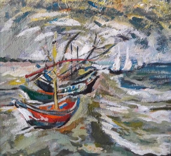 """TABLEAU PEINTURE tr g h r Paysages Acrylique  - """" Étude d'après Van Gogh """".."""