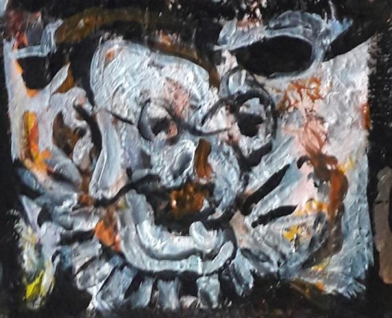 TABLEAU PEINTURE 12e sam lilush d Personnages Acrylique  - étude d'après Picasso ..