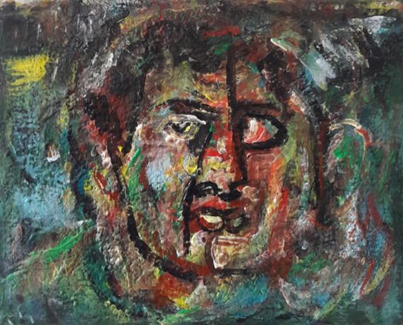 PAINTING Sam KEUSSEYAN de Marseille Personnages Acrylique  - portrait