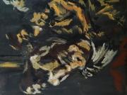 """tableau personnages 12e 56 7 1980 : """" Le Caravage"""" étude.."""
