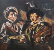 """tableau personnages 12e sam 198025 1980 : """" Le Caravage"""" étude.."""