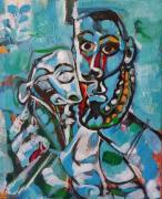 tableau personnages gladiateur : D'après Pablo Picasso