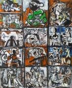 tableau personnages 12e 56 h 32 : étude d'après Picasso ..