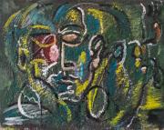 tableau personnages sam keusseyan de marseille : portrait