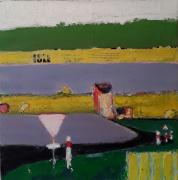 tableau paysages signalisation champs route : Isle