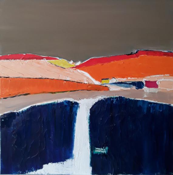 TABLEAU PEINTURE Horizon paysage maison Paysages  - Atelier
