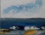 tableau marine mer ciel horizon rocher : 210 paysage