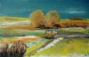 tableau paysages arbres bosquets horizon champs : 227 paysage