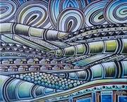 tableau abstrait aartistes peintres ,a artistes peintres du peinture congolaise brazzaville : Le tourbillon dans le désert du Sahara