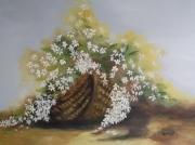 tableau fleurs panier fleuri : Mon panier fleuri