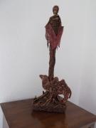 sculpture personnages africaine dromadaire sable : L'Afrique tout simplement
