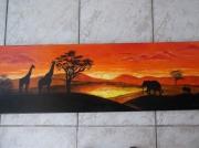 tableau paysages coucher soleil afrique : Coucher de soleil en Afrique
