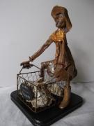 sculpture scene de genre personnage metier humour moderne : Quel dur métier