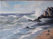 tableau marine ocean vague enfant : La Déferlente